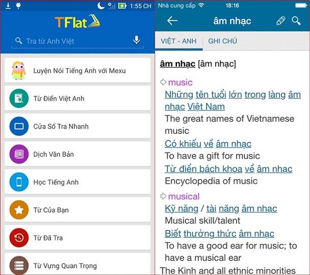 Phần mềm tự học tiếng Anh giao tiếp miễn phí TFlat hỗ trợ nhiều tính năng hấp dẫn